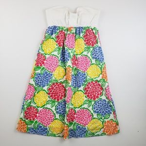 Lilly Pulitzer Womens tube top floral dress bright